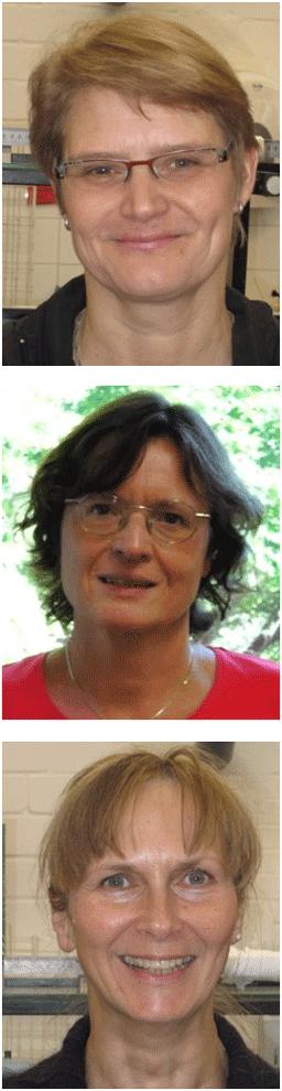 Dr. Ilka Deusing-Gottschalk (oben im Bild), Prof. Dr. Petra Mischnick (Bildmitte)  Petra Schille (unten im Bild)