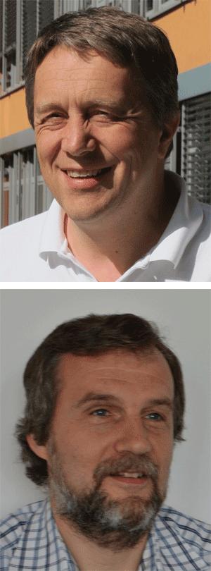 Prof. Dr. Jens Braband (oben im Bild) und Dr. Dirk Peter (unten im Bild)