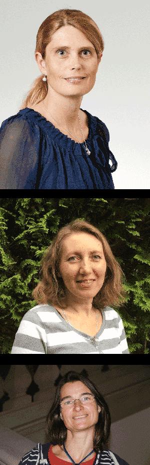 Dr. Sabine Mendach (oben im Bild) Natalya Grohn (Bildmitte) Birte Cirotzki (unten im Bild)