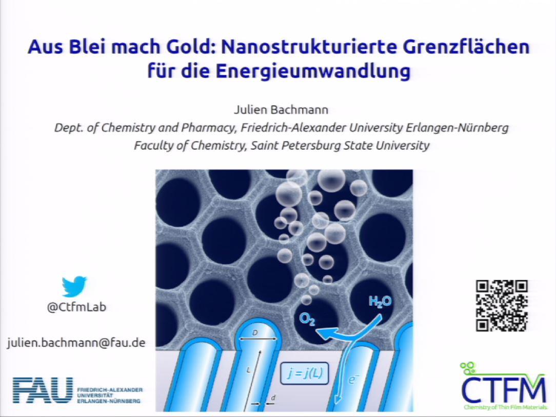 Aus Blei mach Gold: Nanostrukturierte Grenzflächen für die Energieumwandlung