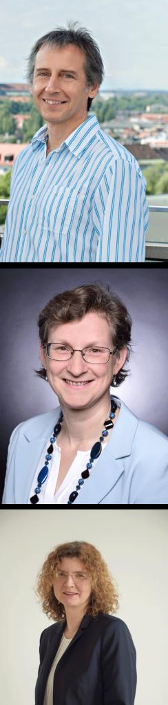 Mike Kramler - oben im Bild, Marion Pellowski - Bildmitte, Dr. Miriam Voß - unten im Bild