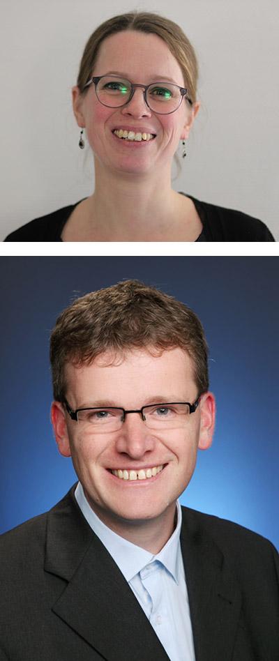 Dr. Hanne Ballhausen - oben im Bild, Dr. Holger Vogts - unten im Bild