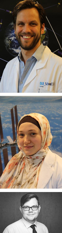 Dr. Dirk Stiefs - oben im Bild, Amina Zaghdane - Bildmitte, Niklaas Hibbeler - unten im Bild